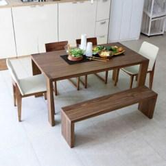 Bench For Kitchen Table Remodeled 意唯尔餐桌餐桌椅组合北欧餐厅家具长凳餐椅1 6m餐桌 图片价格品牌报价 京东