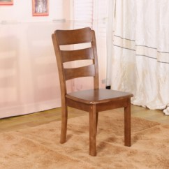 Kitchen Chairs On Rollers Pull Down Faucet Reviews 实木餐椅家用靠背简约现代木椅凳橡木全实木椅子简易椅04款胡桃色 图片 实木餐椅家用靠背简约现代木椅凳橡木全实木椅子简易椅