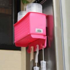 Kitchen Magnets Small Table Set 厨房磁铁 价格 图片 品牌 怎么样 京东商城 日本进口厨房磁铁吸盘收纳篮带挂钩冰箱磁铁收纳筐卫浴室置物