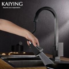 Black Faucet Kitchen Inexpensive Cabinet Makeovers 黑色厨房龙头 价格 图片 品牌 怎么样 京东商城 每满200减40 凯鹰厨房龙头抽拉洗菜盆