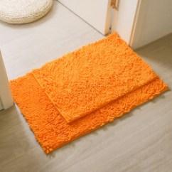 Orange Kitchen Rug Tiny House Kitchens 地垫橙色 价格 地垫橙色图片 京东 鸿盾家纺浴室卫生间进门吸水地垫厨房门口防滑脚垫卧室床边地毯2件装橙色40 60 50 80 大小2件装