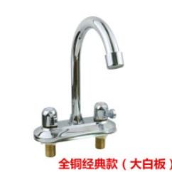 3 Hole Kitchen Faucets Dash Appliances 双开关水龙头 价格 图片 品牌 怎么样 京东商城 全铜面盆水龙头双把双孔三孔双开关冷热水洗手