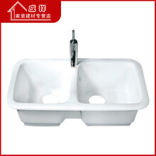 36 inch kitchen sink tile flooring 厨房陶瓷水槽 价格 图片 品牌 怎么样 京东商城 成祥家装新款厨房陶瓷74cm水槽洗菜盆不易粘油asp7901不
