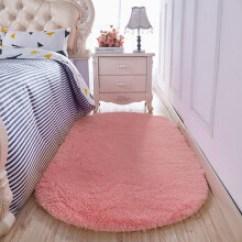 Pink Kitchen Rug Backsplash Ideas 床前地垫 价格 图片 品牌 怎么样 京东商城 赛睿森加厚仿羊绒床边地毯厨房卧室满铺纯色床 粉红色