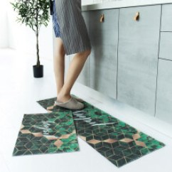 Kitchen Mat Sets Framed Art 脚垫金属 价格 图片 品牌 怎么样 京东商城 半岛良品厨房地垫套长条吸水防滑防油家用脚垫地毯