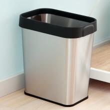 kitchen trash bin tongs 不锈钢厨房垃圾桶 价格 图片 品牌 怎么样 京东商城 欧润哲压圈垃圾桶家用12l不锈钢大号方桶压袋式家用