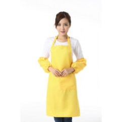 Kitchen Apron For Kids Walmart Aid Mixer 黄色围裙 价格 图片 品牌 怎么样 京东商城 围裙定制logo定做广告围裙印字韩版时尚市工作服务员厨房围裙黄色