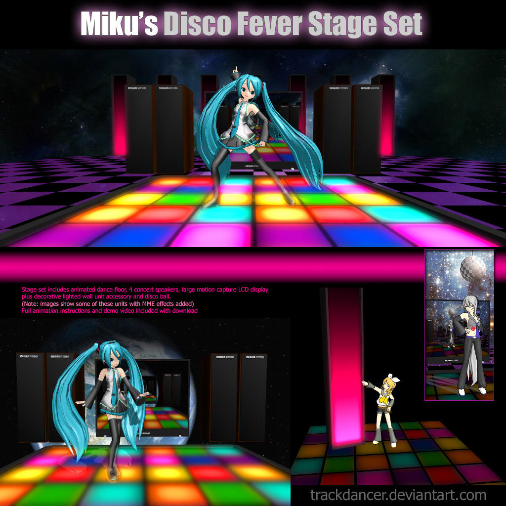 Animated Watch Wallpaper For Mobile Mmd Miku S Disco Fever Stage Set By Trackdancer On Deviantart