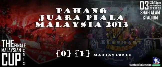 pahang juara piala malaysia 2013,