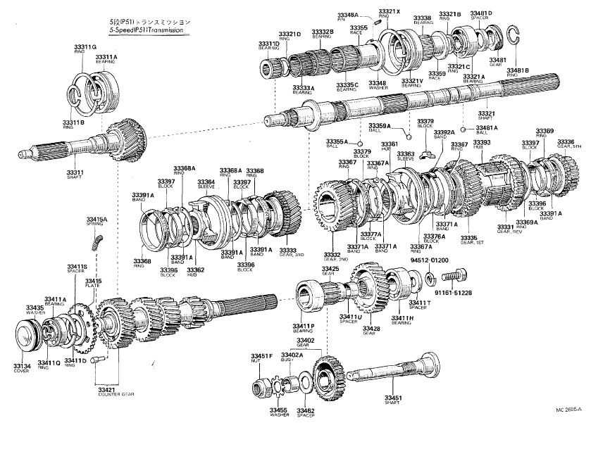 Old Celica Transmissions Diagrams (T40, T50, W40, W50