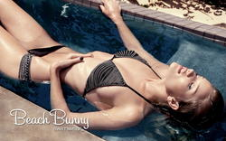 Supermodel Rosie Huntington-Whiteley for Beach Bunny swimwear catalog - Hot Celebs Home