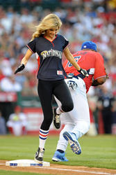 Marisa Miller at the MLB All Star Game Celebrity Softball Game - Hot Celebs Home