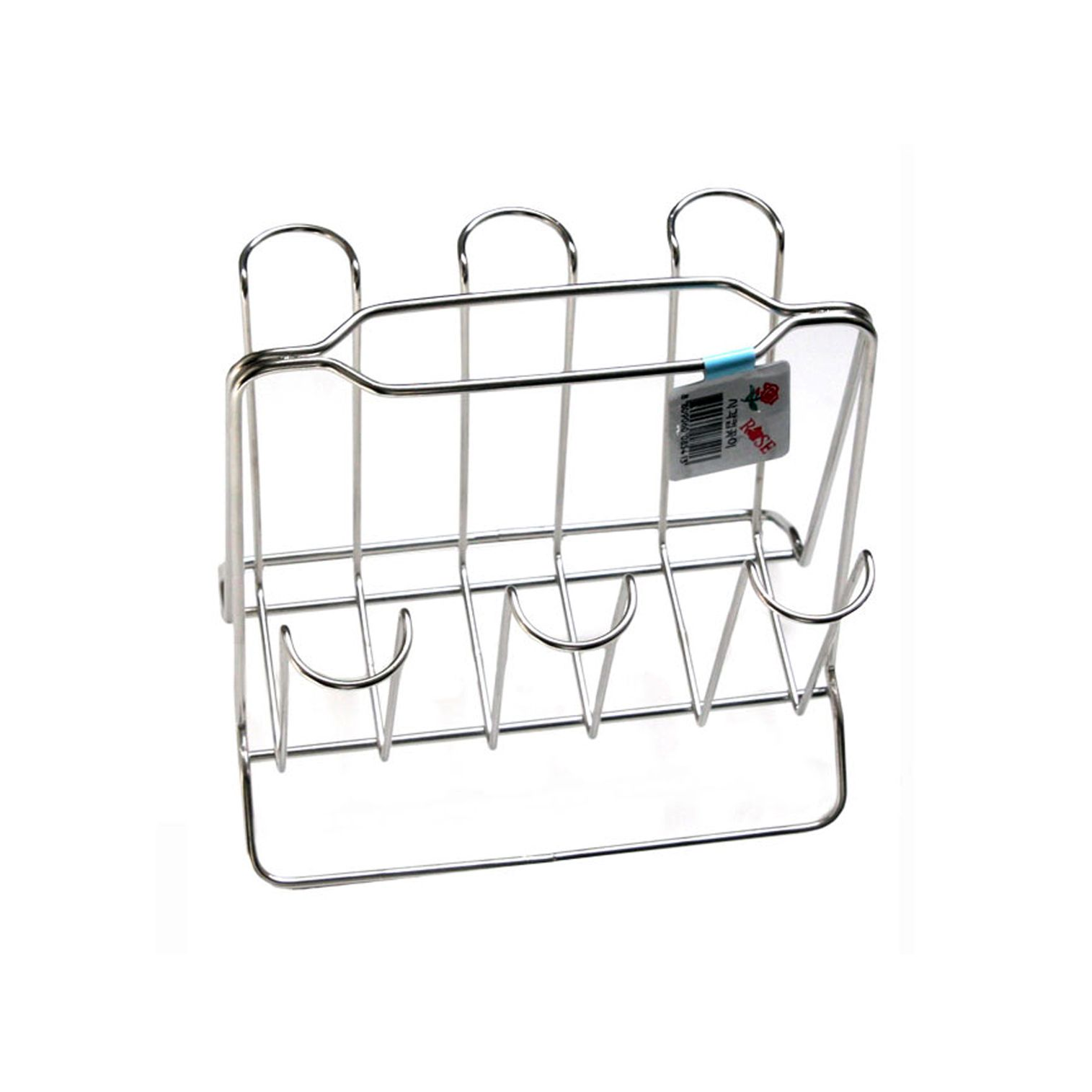New Chrome Cup Stand For 6 Mug Tea Coffee Cup Holder