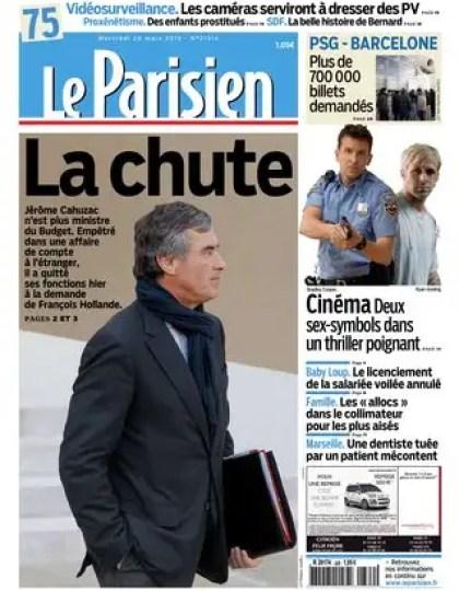 Le Parisien du Mercredi 20 Mars 2013
