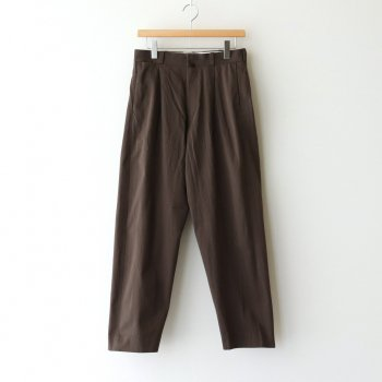 CHINO CLOTH PANTS TUCK TAPERED #BROWN [60652] _ YAECA | ヤエカ