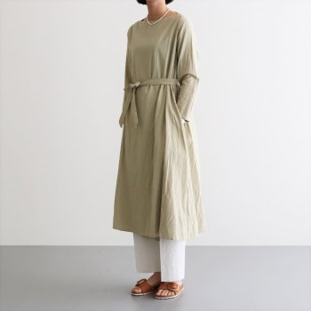 WRAP DRESS #IRON MORDANT [91718] _ YAECA | ヤエカ