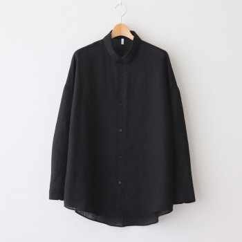 FTSOSH   スラブトリアセテート・ガーゼ スモールカラーオーバーシャツ #BLACK [AR_FR013SF] _ FIRMUM   フィルマム