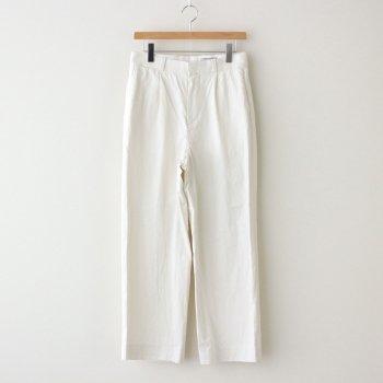 CHINO CLOTH PANTS TUCK STRAIGHT #WHITE [61606] _ YAECA   ヤエカ