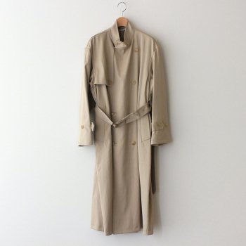 WASHED FINX CHAMBRAY TWILL LONG COAT #BEIGE CHAMBRAY [A21AC02FR] _ AURALEE | オーラリー