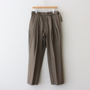 BELTED 2TUCK WIDE TROUSERS #GREIGE [YK21AW0262P] _ YOKE   ヨーク