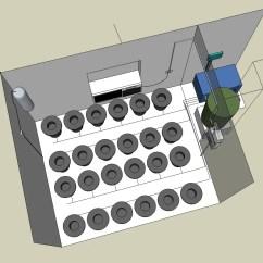 Room Setup Diagram Spirogyra Cell 4000 Watt Sealed Recirculating Dwc Growroom
