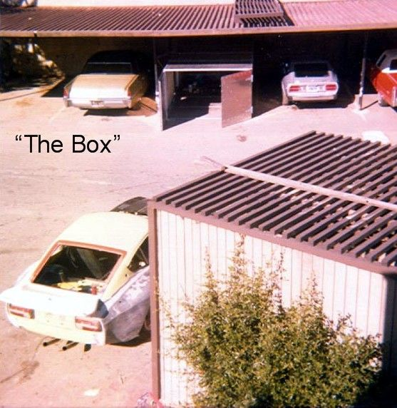 The box, where the car was stored for nearly 20 years during its build!