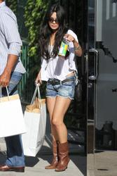 Vanessa Hudgens in jeans shorts shops at Diesel in West Hollywood - Hot Celebs Home