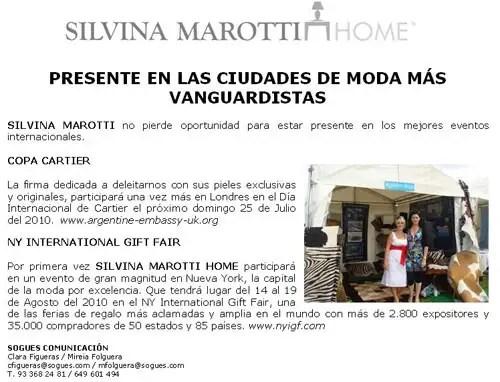 Silvina Marotti Home, pieles