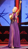 Kylie Minogue performs on stage on the opening night of her world tour KylieX2008 in Paris, France