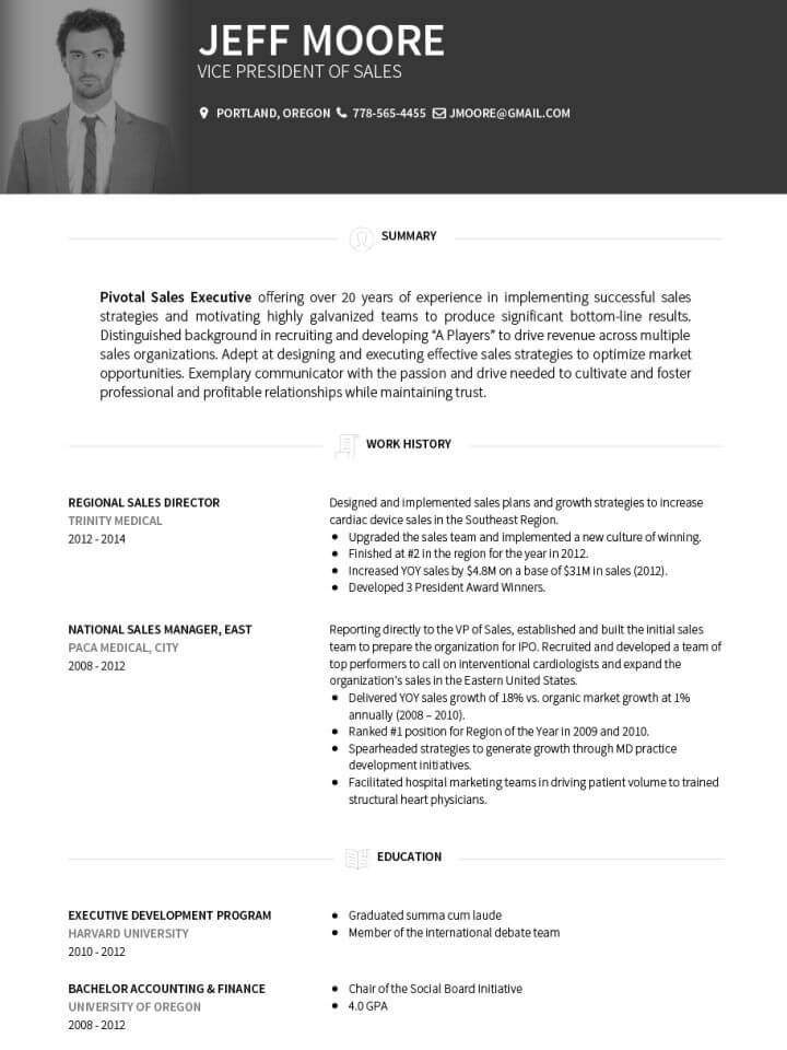 career cv template