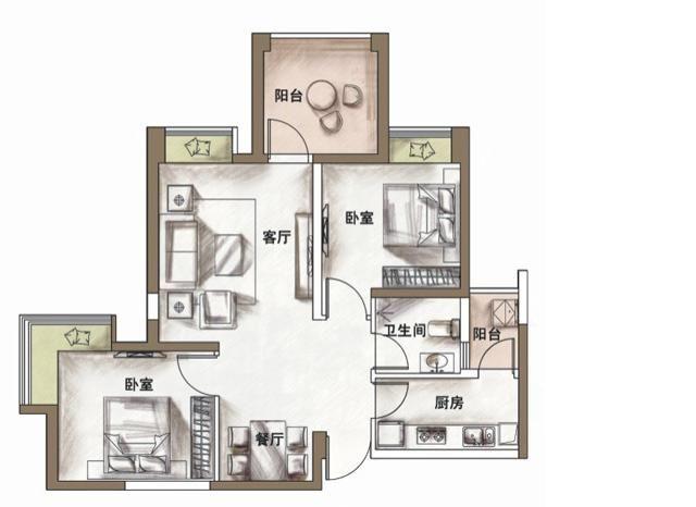 圖便宜買了大門正對房門的房子。請高手化解風水問題-裝修論壇-北京房天下