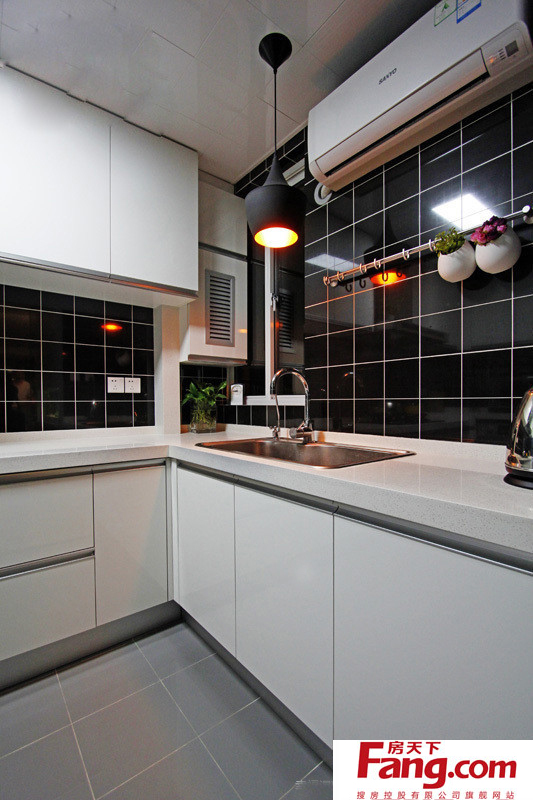 grey kitchen tile cool tables 2019黑白厨房墙砖颜色效果图 房天下装修效果图 灰色厨房瓷砖