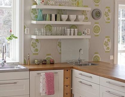 wallpaper for kitchen undermount double sink 2019简约厨房壁纸效果图 房天下装修效果图 简约厨房壁纸效果图