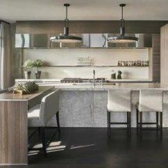 Modern Kitchen Images Motion Faucet 2019现代厨房装修图大全 房天下装修效果图 气质内敛现代风格开放式厨房设计