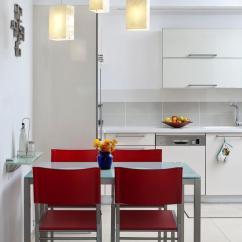 Kitchen Dining Chairs Rustic Cabinet Handles 现代主义开放式厨房餐厅红色餐椅设计 收藏