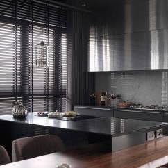 Metal Kitchen Cabinet Lowes Backsplash For 工业风格单身公寓开放式厨房金属橱柜精装设计 金属厨柜