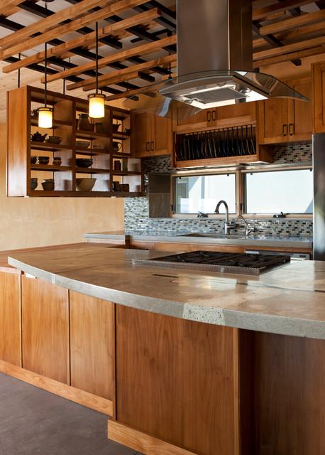 southwest kitchen miele appliances 西南亚风格别墅大型厨房木制储物柜装修设计 西南厨房
