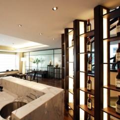 Kitchen Wine Cabinet Oil Rubbed Bronze Light Fixtures 古典风格开放式厨房酒柜装修效果图 收藏