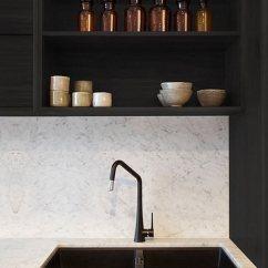 Black Sink Kitchen Cabinets For Less Reviews 现代风格黑色干净明亮厨房水槽装修效果图 黑色水槽厨房