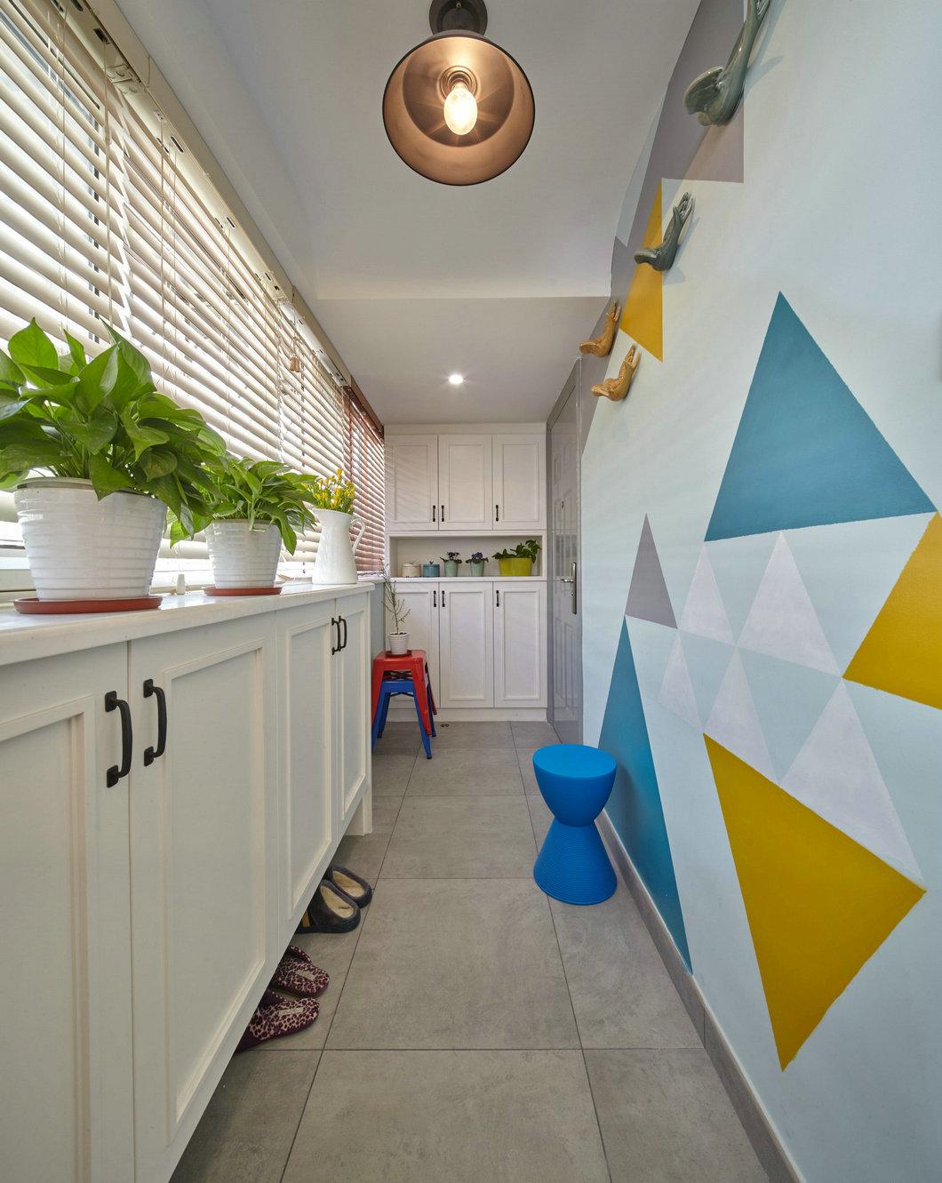 kitchen wall art nook curtains 现代风格艺术清新厨房背景墙设计 收藏