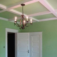 Coffered Beadboard Ceiling: After