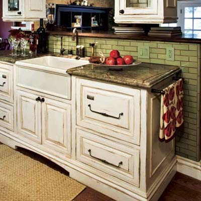 Antiqued  Kitchen Cabinet Painting Guide  This Old House