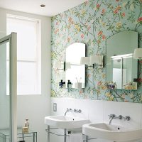 popular wallpapers for bathrooms 2017 - Grasscloth Wallpaper