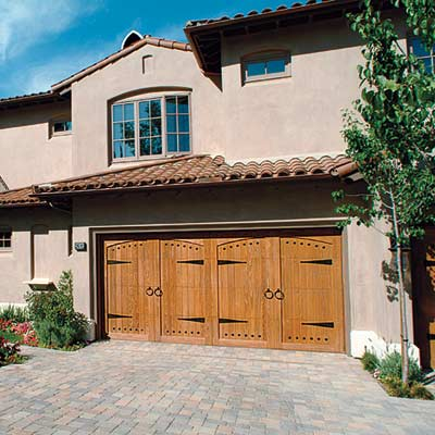 mission style garage door