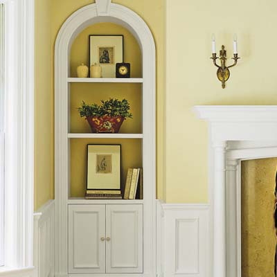 Fireplace Niche  Builtin Storage Ideas  This Old House