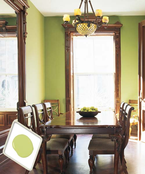 Apple Green  Best Colors for Dining Room Drama  This Old