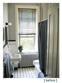 small bathroom before this brighter and sleeker bath after remodel