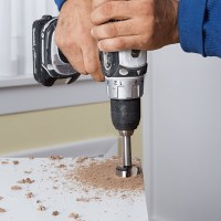 Drill The Cup Holes   How to Install Concealed Euro-Style ...