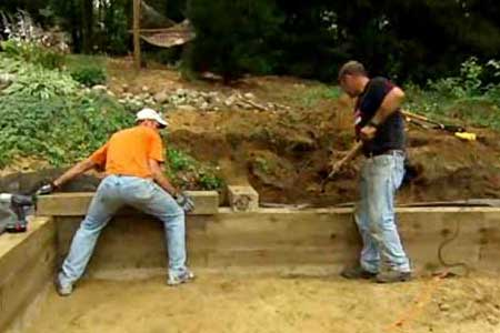how to build a 2 foot wood retaining wall