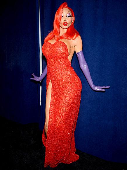 Heidi Klum's Jessica Rabbit Halloween Costume 2015: Photos